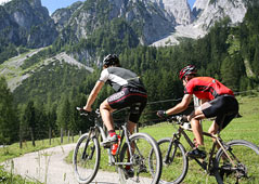 Mountainbiken am Wolfgangsee