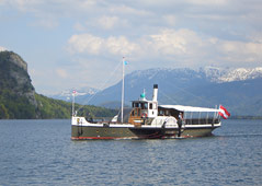 Boat trip in the Salzkammergut Lake district